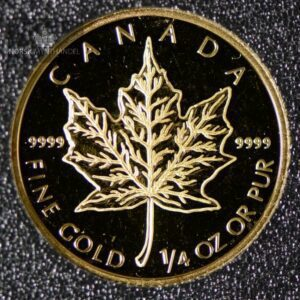 2003 Canadian Gold Maple Leaf 1/4 oz Proof