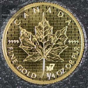 2005 Canadian Gold Maple Leaf 1/4 oz Revers Proof Privy M7