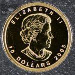 2005 Canadian Gold Maple Leaf 1/4 oz Revers Proof Privy M7