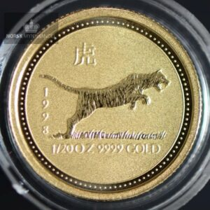 "1998 Australia 1/20 oz Gull Lunar Serie 1 ""Year of the Tiger"" BU"
