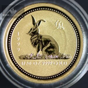 "1999 Australia 1/20 oz Gull Lunar Serie 1 ""Year of the Rabbit"" BU"