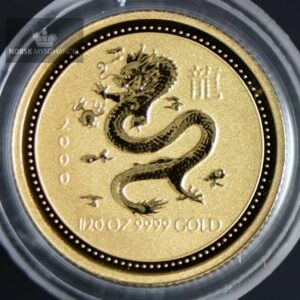 "2000 Australia 1/20 oz Gull Lunar Serie 1 ""Year of the Dragon"" BU"
