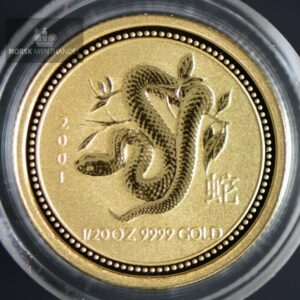 "2001 Australia 1/20 oz Gull Lunar Serie 1 ""Year of the Snake"" BU"