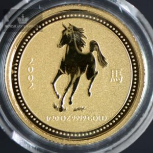 "2002 Australia 1/20 oz Gull Lunar Serie 1 ""Year of the Horse"" BU"