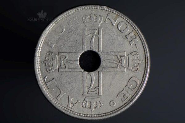 1922 50 Øre Med Hull Kv 1-