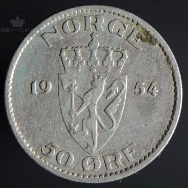 1954 50 Øre Kv 1