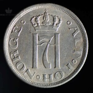 1922 25 Øre Kv 1/1+