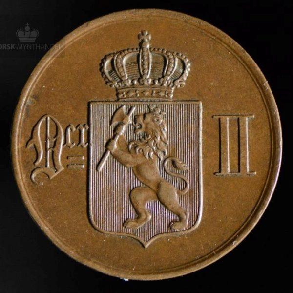 1876 5 Øre Kv 1+/01