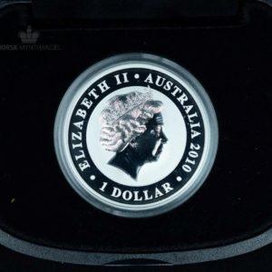 2010 Australian Silver Koala 1 oz Gilded BU