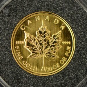 "1993 Kanada 1/20 oz Gull Maple Leaf ""First year of issue"" BU"