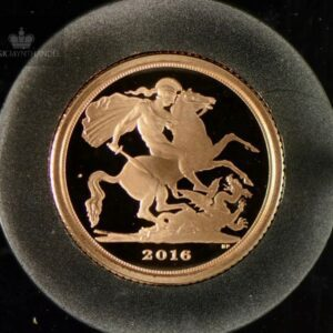 2016 Storbritannia Quarter Sovereign Gullmynt Proof