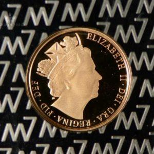 2016 Storbritannia Quarter Sovereign Gullmynt Proof