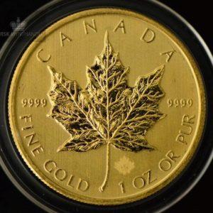 2014 Kanada 1 oz Gold Maple Leaf BU ANM