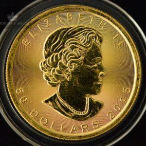 2015 Kanada 1 oz Gold Maple Leaf BU ANM