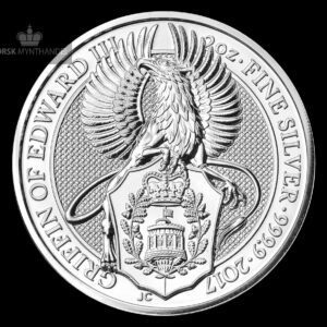 "2017 Storbritannia 2 oz Sølv ""Queen`s Beasts - The Griffin"" BU"