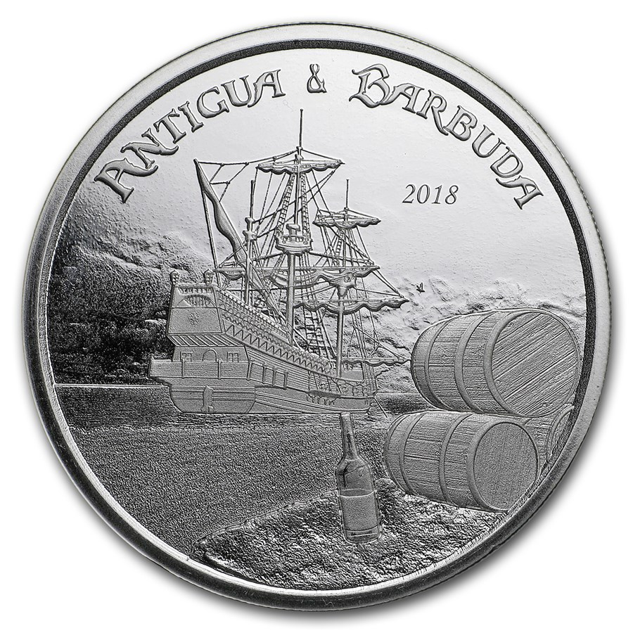 2018 Antigua & Barbuda 1 oz Silver Rum Runner BU
