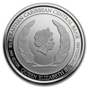 2018 Antigua & Barbuda 1 oz Sølv Rum Runner BU