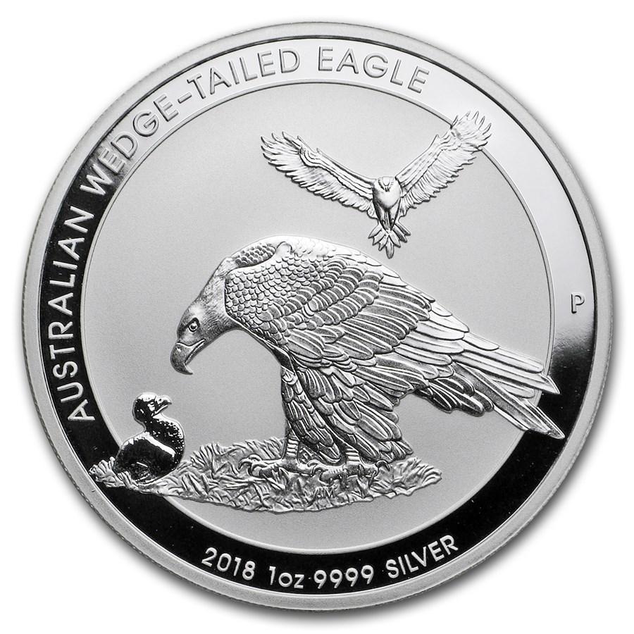 2018 Australia 1 oz Sølv Wedge-Tailed Eagle BU