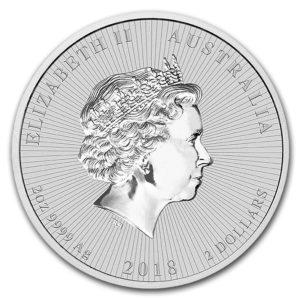 2018 Australia 2 oz Sølv Koala BU