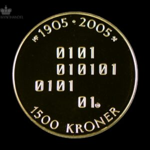 2005 Hundreårsmynten 1500 Kroner 1/2 oz Gull Nr. 3 Proof