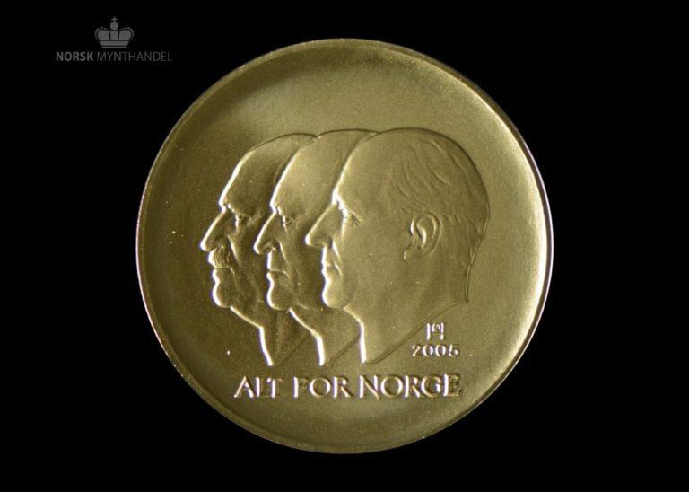2005 Hundreårsmynten 1500 Kroner 1/2 oz Gull Nr. 3 Proof