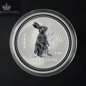 1999 Australia 1 oz Sølvmynt Year of the Rabbit BU