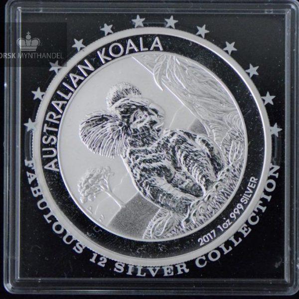 2017 Australia 1 oz Sølv Koala BU