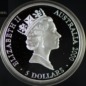 "2000 Australia 1 oz Sølv Sidney OL 2000 ""Aboriginere"" Proof"