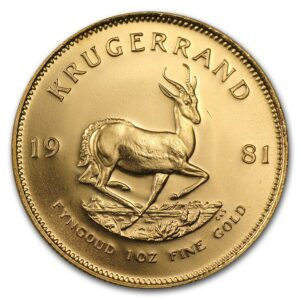 1981 Sør-Afrika 1 oz Gull Krugerrand