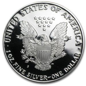 1990-S American 1 oz Silver Eagle Proof M/Etui