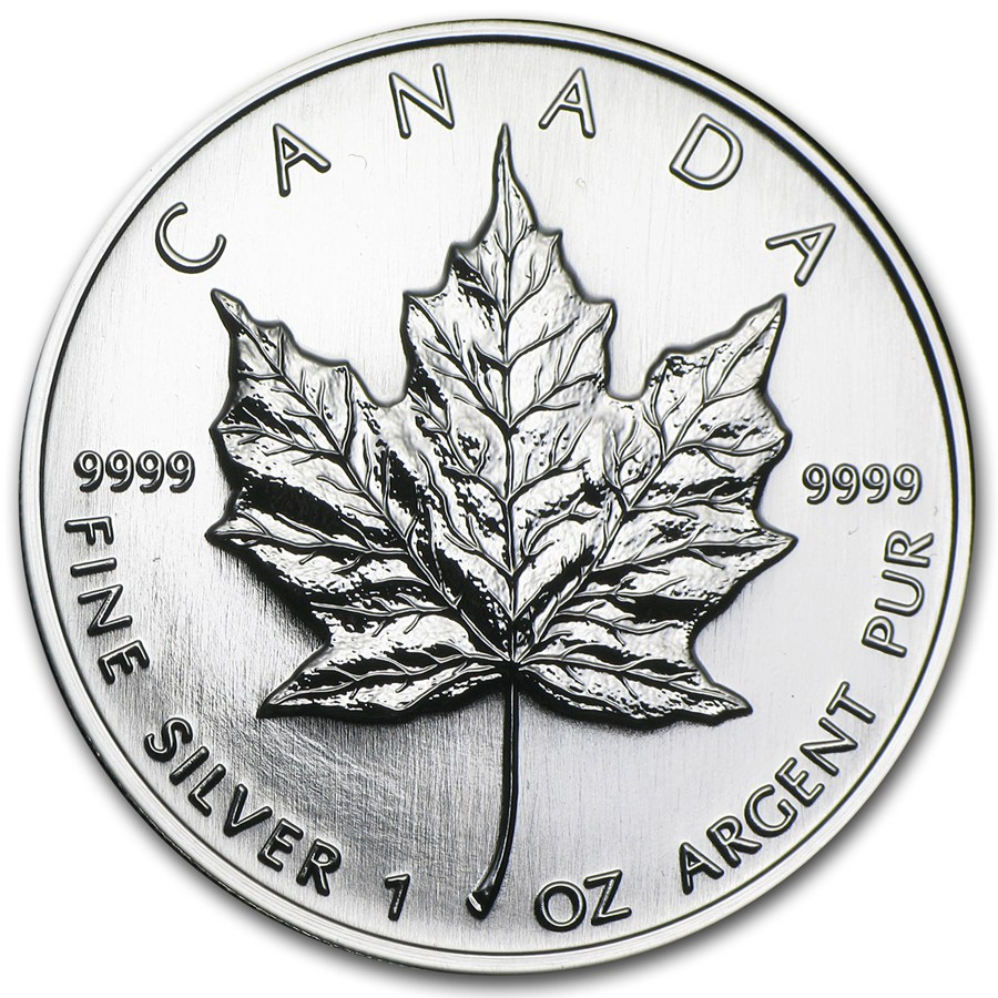 1998 Kanada 1 oz Sølv Maple Leaf BU Forseglet