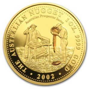 "2002 Australia 1.9 oz ""Gold Nugget Prospector"" Sett Proof"