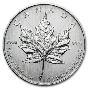 "2007 Kanada 1 oz Palladium Maple Leaf BU ""Sealed"""