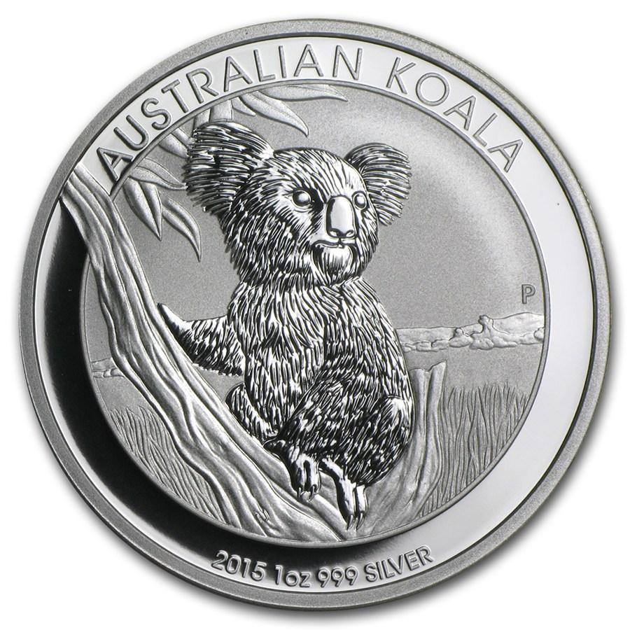 "2015 Australia 1 oz Sølv Koala BU ""Fab 12"""