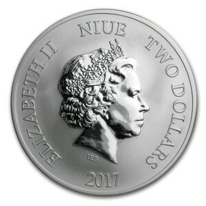 """2017 Niue 1 oz Sølv """"Year of the Rooster"""" BU"""