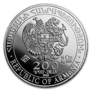 2018 Armenia 1/2 oz Sølv Noah`s Ark BU