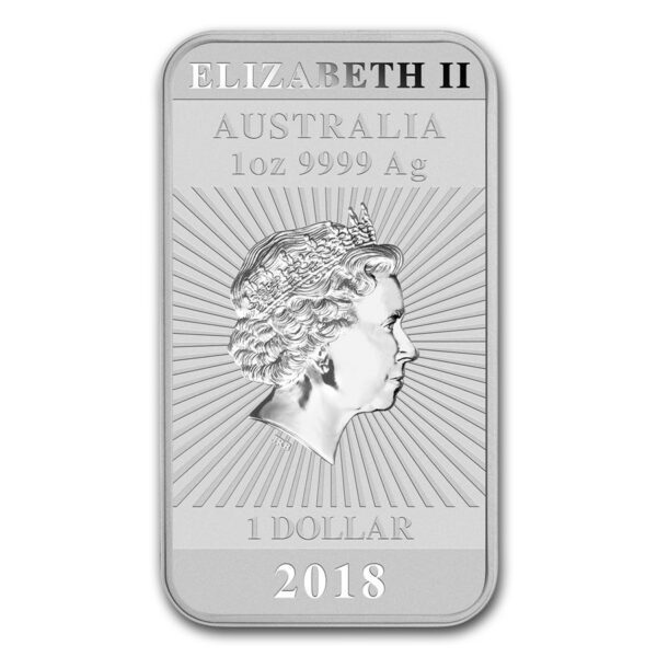 2018 Australia 1 oz Sølv Dragon Coin Bar BU