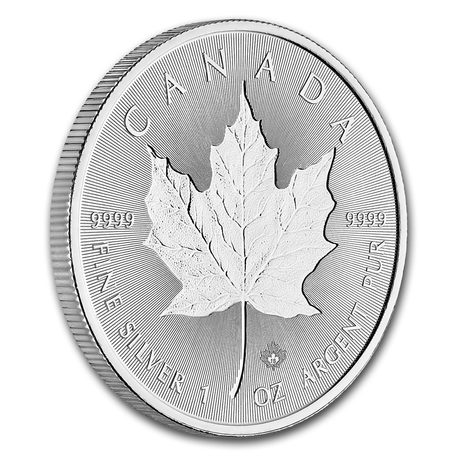 2018 Kanada 1 oz Sølv Incuse Maple Leaf BU