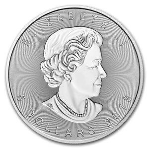 2018 Kanada 1 oz Sølv Incuse Maple Leaf BU