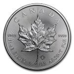2018 Kanada 1 oz Sølv Maple Leaf BU