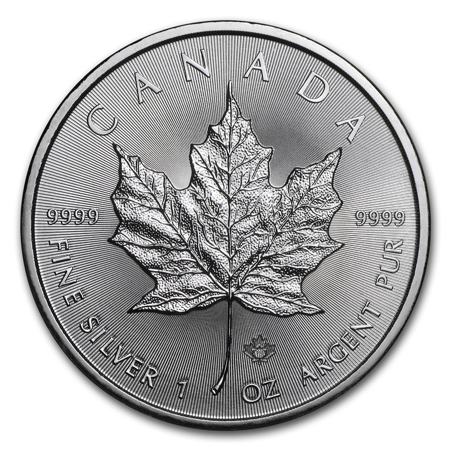 2018 Kanada 1 oz Sølv Maple Leaf BU