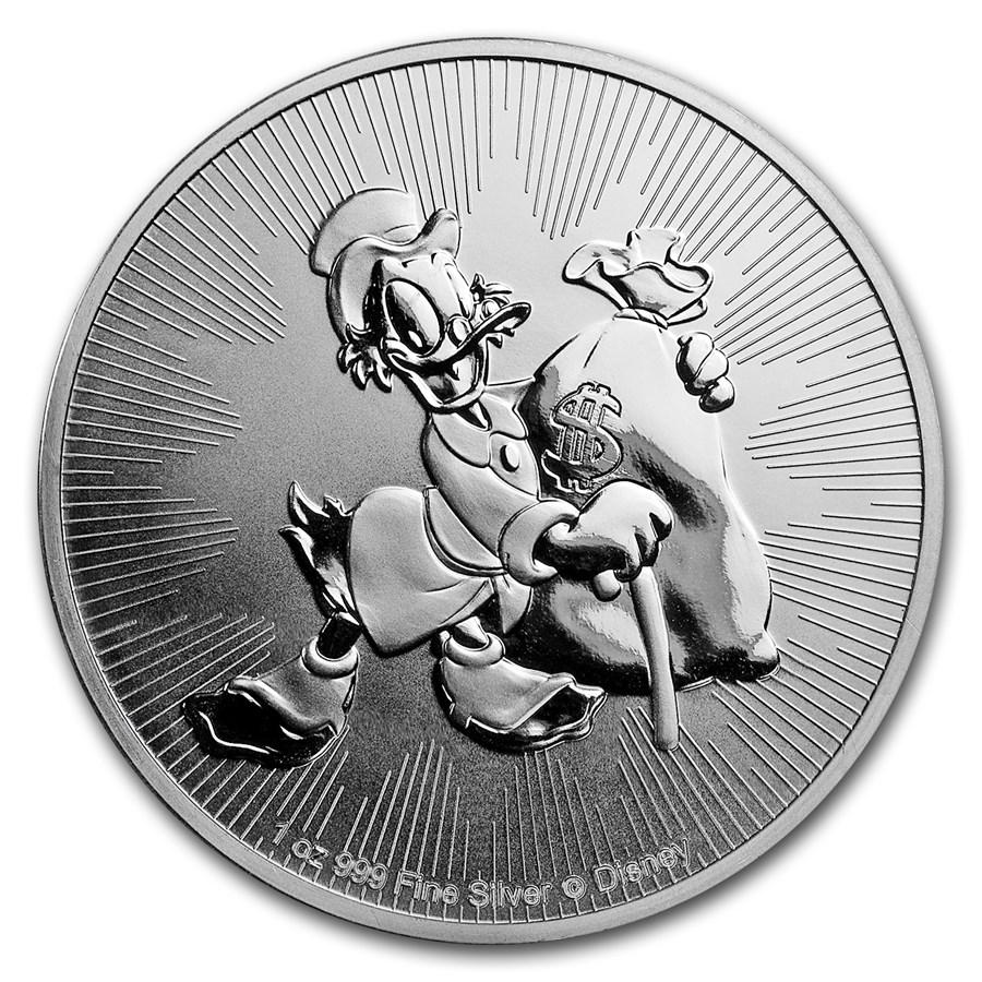 2018 Niue 1 oz Sølvmynt Disney Scrooge McDuck BU