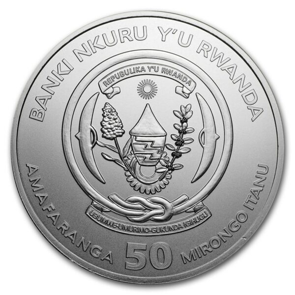 2018 Rwanda 1 oz Sølv African Wildlife