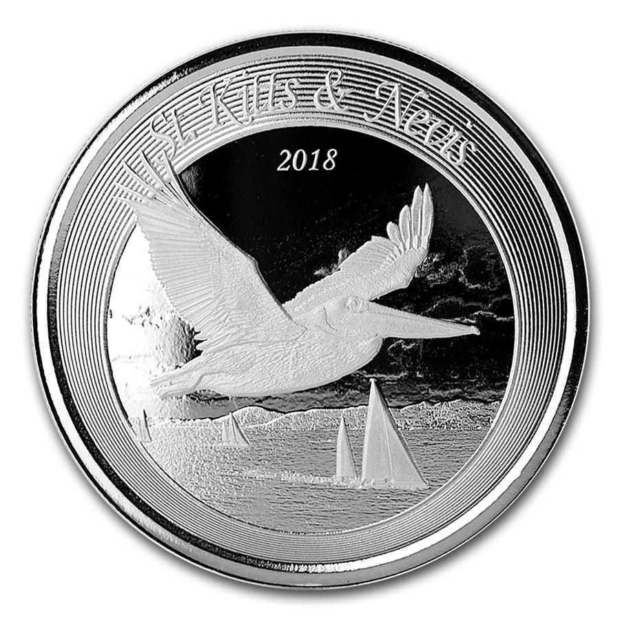 2018 St. Kitts & Nevis 1 oz Sølvmynt Pelican BU