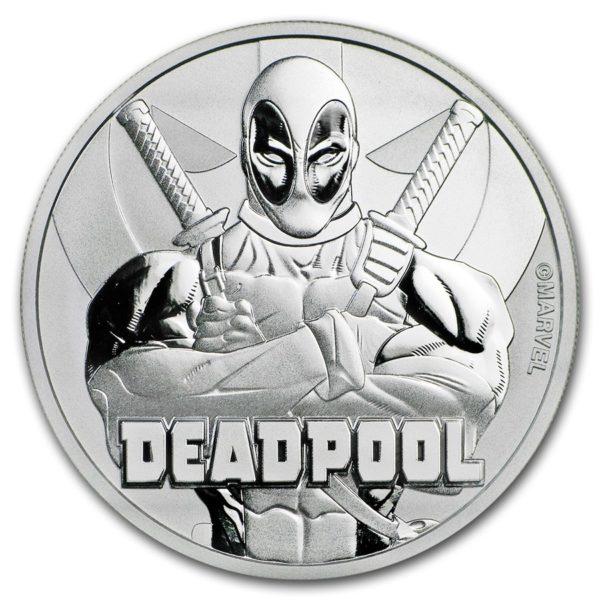 2018 Tuvalu 1 oz Sølv Marvel Series Deadpool™ BU