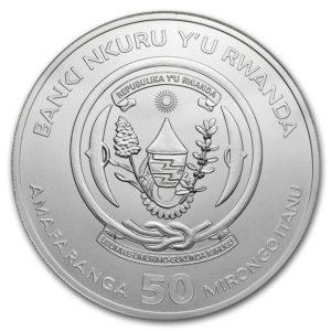 "2019 Rwanda 1 oz Sølv Lunar ""Year of the Pig"" BU ""Sealed"""