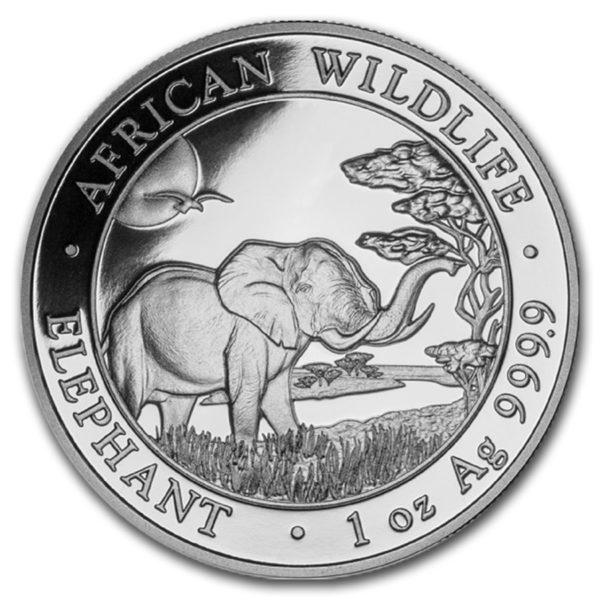 2019 Somalia 1 oz Sølv African Elephant BU