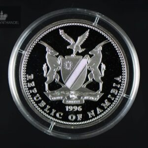 1996 Namibia 10 Dollar Sølvmynt OL Atlanta Proof