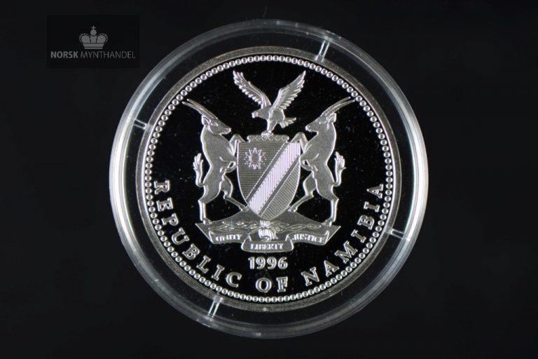 1996 Namibia 10 Dollar Sølvmynt OL Atlanta Proof