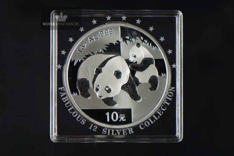 2008 Kina 1 oz Sølv Panda BU